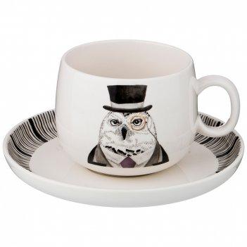 Чайная пара на 1 персону fashion animals 2 пр. 450 мл (кор=8шт.) мал.уп. 4