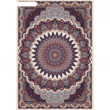 Прямоугольный ковёр shahreza d417, 240 х 330 см, цвет cream-navy