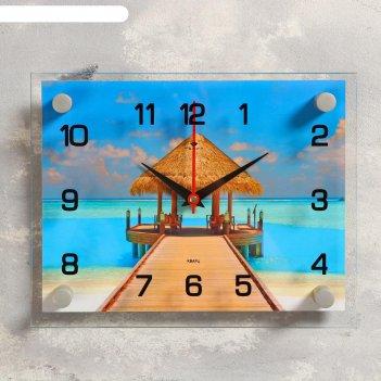 Часы настенные, серия: море, пляж, 20х26 см