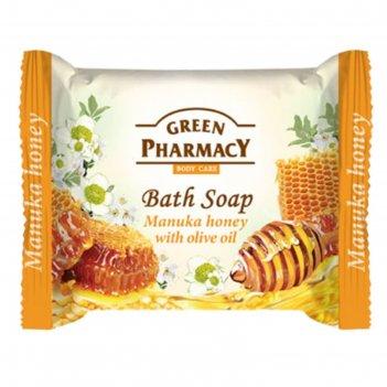 Туалетное мыло green pharmacy «мёд манука», с оливковым маслом, 100 г