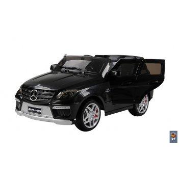 Rt ml63 электромобиль mercedes-bens amg 12v r/c black с резиновыми колесам