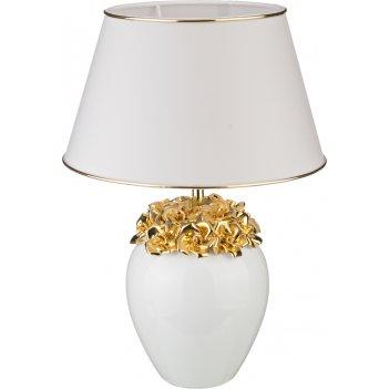 Светильник настольный розы+абажур золото диаметр=30 см. высота=44 см.е27 (