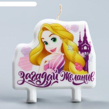 Свеча в торт, принцессы: рапунцель, 8x8 см