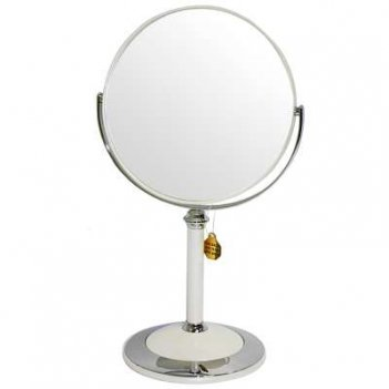 Зеркало b7 8011 per/c wpearl наст. кругл. 2-стор. 5-кр.ув.18