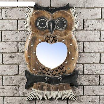 Панно зеркальное сова 1,5х33х60 см