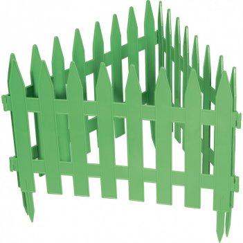 Забор декоративный рейка 28 x 300 см, зеленый россия palisad