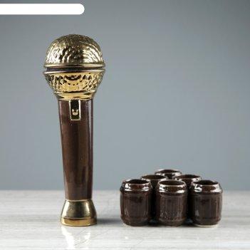 Штоф с рюмками микрофон набор 7 предметов 0,5/0,05 л