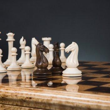 Шахматы стаунтон элегант из бивня мамонта каdun