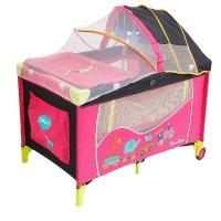 Манеж-кровать весёлые друзья, цвет розовый