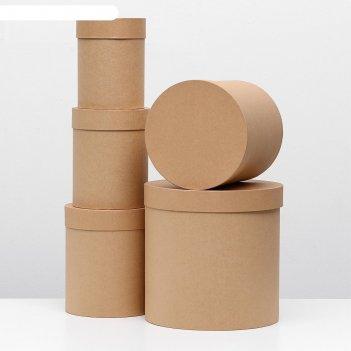 Набор коробок 5в1 30 х 30 х 30 - 15 х 15 х 20 см