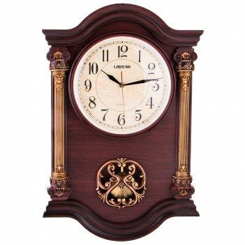 Часы настенные кварцевые с маятником 57*38*7 см. диаметр циферблата=23 см.