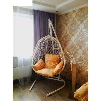 Подвесное кресло на стойке капри, белое/бежевая