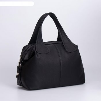 Сумка женская, отдел на молнии, наружный карман, длинный ремень, цвет чёрн