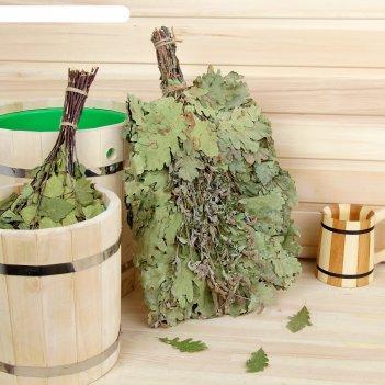 Веник для бани экстра из кавказского дуба с мятой