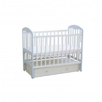 Кроватка детская «фея 328» белая-лазурь