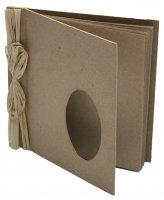 Альбом для скрапбукинга из папье-маше овал, 10 страниц, 15 см