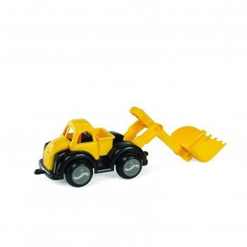 Машинка vikingtoys «эксковатор», с ковшом, цвет жёлтый