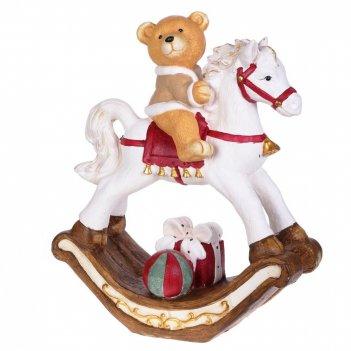 Фигурка декоративная мишка на лошадке, l55 w25 h68 см