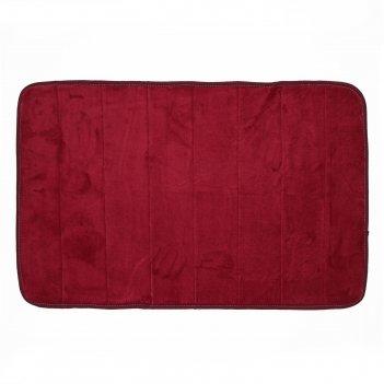 Коврик для дома «моно», 50x80 см, цвет бордовый