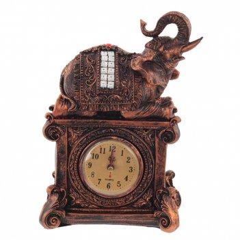 Часы настольные декоративные слон, l19 w8 h27 см, (1хаа не прилаг.)