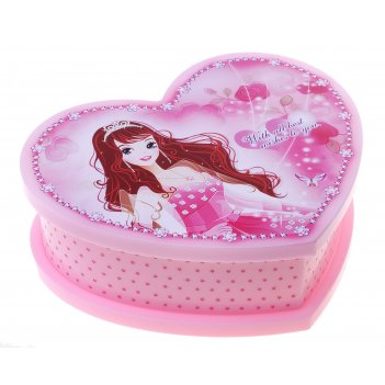 Шкатулка музыкальная принцесса розовая