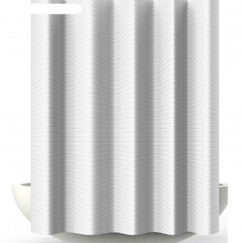 Штора для ванной verga, 180х200 см, белый