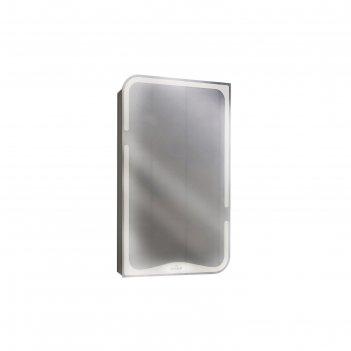 Зеркало basic со шкафчиком, без подсветки, цвет белый