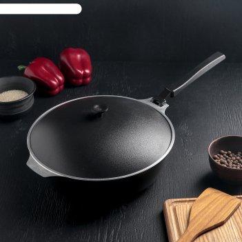 Сковорода-сотейник 26см/7,5см с дкорат. покрытием (черный)