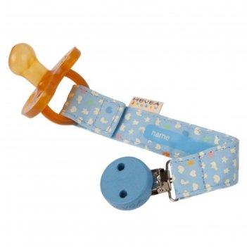 Держатель для соски-пустышки или прорезывателя hevea, цвет голубой