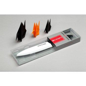 Нож кухонный шеф 167 мм, циркониевая керамика,(черный) samura fusion