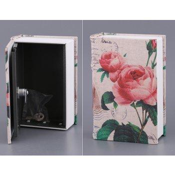 Стальной ящик для хранения с замком 19*13*6 см.