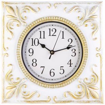 Часы настенные кварцевые royal house цветантик  слоновая кость30*30 см(кор