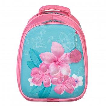 Рюкзак каркасный calligrata, 38 x 30 x 16 см, для девочки, «цветочное натс
