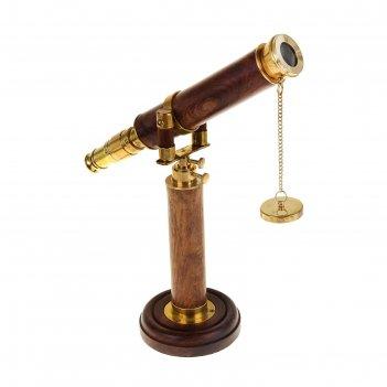Сувенир подзорная труба на подставке (4хкратное увеличение) 39х30,5х11,5 с