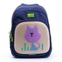 Рюкзак школьный эргономичная спинка пиксель 4all kids 39*27*17 см rk61-11n