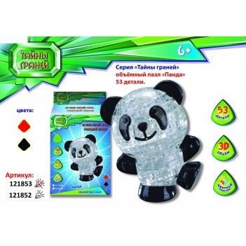 Пазлы 3d панда, 53 детали, цвета микс