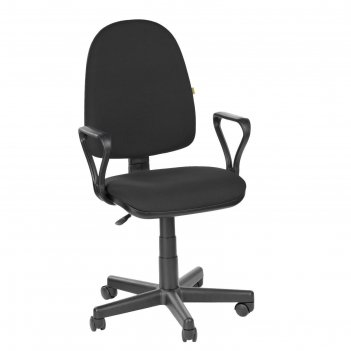 Кресло оператора престиж самба, черный, ткань (в-14)