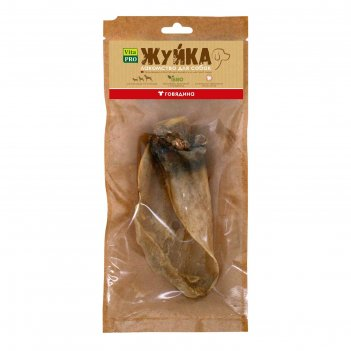 Лакомство vita pro жуйка для собак, ухо говяжье, 1 шт