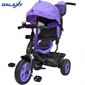 3-х колесный велосипед galaxy лучик vivat фиолетовый