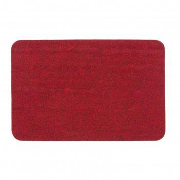 Коврик soft 40x60 см, цвет бордовый