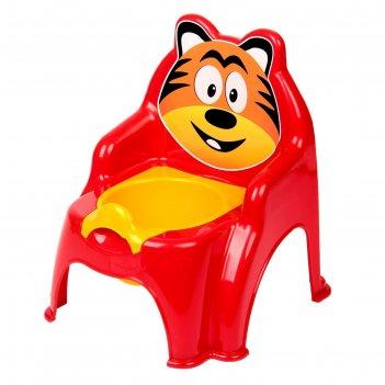 Горшок-стульчик «тигра», цвет красный