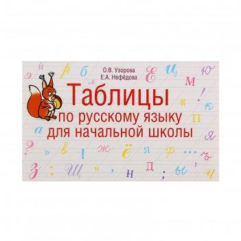 Таблицы по русскому языку для начальной школы. узорова о. в., нефёдова е.