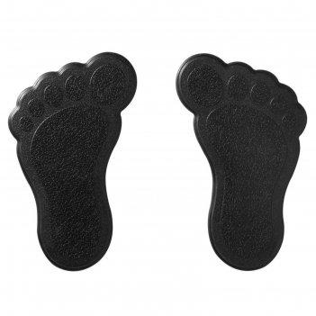 Мини-коврики для ванны slip-not xxs 6 шт, цвет чёрный