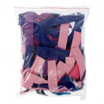 Набор фетра ассорти мягкий, полоски, синий, голубой, сиреневый, фиолетовый