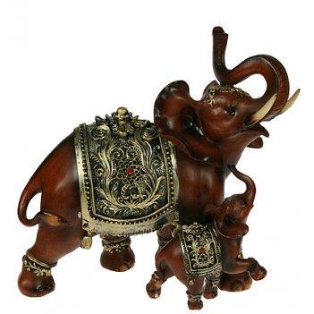 Фигурка декоративная слоны 26*12*25см