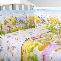 Комплект в кроватку репка, 6 предметов, цвет бежевый, хл100% 125 г/м h713-