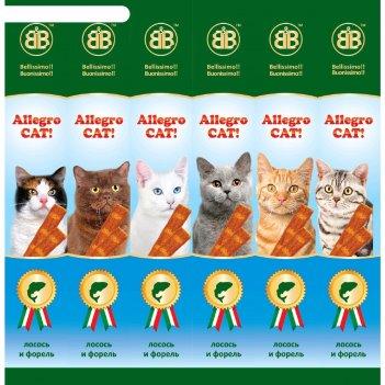 Колбаски b b allegro dog для кошек, лосось/форель, 6 шт