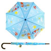 Зонт-трость счастье здесь, d = 106 см, 8 спиц
