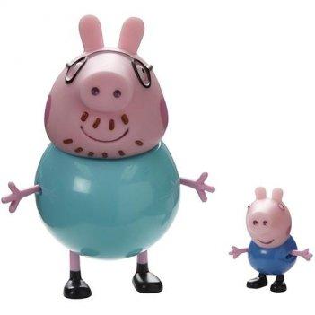 Игровой набор папа свин и джордж peppa pig 20837
