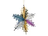 Декоративное изделие подвес  звезда  40 см.